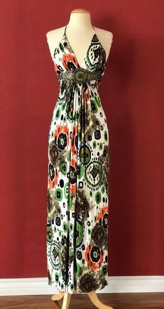 SKY BRAND Aztec Print Halter Maxi Dress Size S #Sky #Maxi #Casual