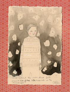 oliver watched the rain that fell around him glitter like diamonds in the moonlight by amanda blake art, via Flickr