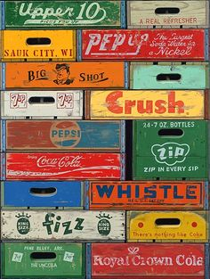 Retro #soda #crates