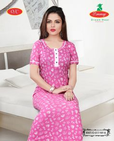 hosiery frocks for kids Salwar Neck Designs, Kurta Neck Design, Satin Dresses, Nice Dresses, Cotton Nighties, Nightgown Pattern, Kids Dress Wear, Kids Frocks Design, Night Dress For Women