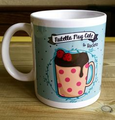 "Mug - ""NUTELLA MUGCAKE"" - with illustrated recipe de LILLYPUT en Etsy"