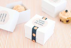 DIY Cupcake box from Kikki K. Printable and instructions.