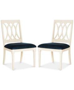 Gitanna Set of 2 Dining Chairs, Quick Ship - Blue