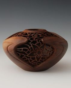 27 best Turned Wood images on Pinterest   Wood turning, Woodturning Gl Vase Melted Over Wood on