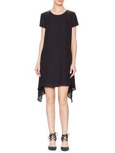 Asymmetrical Short Sleeve Shift Dress by Fifth City at Gilt
