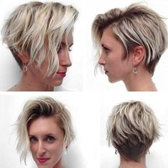 Love this longer messy pixie on fine hair!