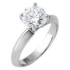 14K White Gold 3.05 cts Round Brilliant Cut $1435