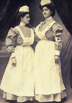 early 1900's nursing uniforms. i'd break a fast sweat in that garb!