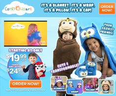 Comfy Critters are stuffed animals that can be changed into blankets, headrests, capes, or hats. Do they work? Read our Comfy Critters review.