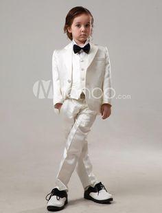 Magnifique costume mariage enfant satin élégant [ M