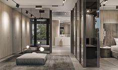 "TOL'KO / ""MASTER FLOOR"" in Osko Village on Behance Hotel Room Design, Bedroom Closet Design, Contemporary Interior, Modern Interior Design, Morden House, Eden Design, Mansion Designs, Luxurious Bedrooms, Luxury Homes"