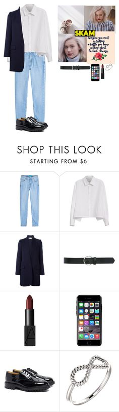 """""""Noora Saetre inspired~SKAM Rtd"""" by bandgirl1213 ❤ liked on Polyvore featuring M.i.h Jeans, Y's by Yohji Yamamoto, STELLA McCARTNEY, M&Co, NARS Cosmetics, Chiara Ferragni and Tricker's"""