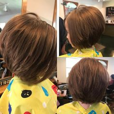 Kids' Layered Bob Hairstyle # layered bob Braids 50 Cute Haircuts for Girls to Put You on Center Stage # layered bob Braids Layered Bob Hairstyles, Bob Hairstyles For Fine Hair, Little Girl Hairstyles, Medium Hairstyles, Toddler Hairstyles, Teenage Hairstyles, Hairstyles 2016, Trending Hairstyles, Natural Hairstyles