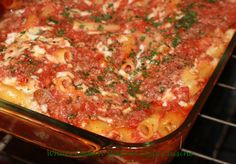 This is a pasta layered with cheeses, meats and tomato sauce with cooked our favorite ziti pasta. The all in one pan casserole is a classic favorite in most Italian American home baked to perfection with melted shredded mozzarella cheese on top. Pasta Recipes, Snack Recipes, Snacks, Baked Ziti, Fennel Seeds, Drying Herbs, Pasta Dishes, Family Meals, Ziti Recipe
