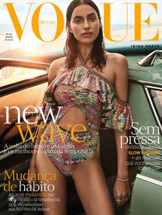 Irina Shayk by Giampaolo Sgura Vogue Brasil January 2017 Vogue Covers, Vogue Magazine Covers, Fashion Magazine Cover, Fashion Cover, Magazine Cover Design, Gisele Bundchen, Vogue Fashion, Fashion Models, Europe Fashion