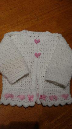 Baby girls crouchet cardigan