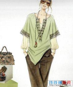 Representaciones de diseño del traje de la colección más completa de línea en línea, más ...