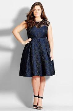 Find City Chic Lace Neck Brocade Dress (Plus Size) online. Shop the latest collection of City Chic Lace Neck Brocade Dress (Plus Size) from the popular stores - all in one Plus Size Bridesmaid, Plus Size Wedding Guest Dresses, Plus Size Party Dresses, Plus Size Outfits, Bridesmaid Dresses, Wedding Dresses, Bridesmaids, City Chic, Xl Mode