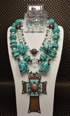 TURQUOISE CHUNKY WESTERN Statement Bold by CayaCowgirlCreations, $72.50