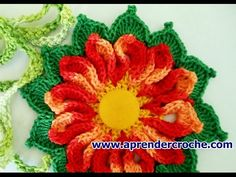 FLORES EM CROCHE 096 FLORES MODELO NAVY - YouTube