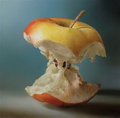 Hyperrealistic painting by Dutch artist Tjalf Sparnaay Food Painting, Painting & Drawing, Apple Painting, Tjalf Sparnaay, Hyper Realistic Paintings, Dutch Artists, Still Life Art, Art Graphique, Realism Art