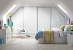 Stunning bespoke sliding wardrobes can be built to any size to get the best use of the available space. #fittedwardrobes #whitebedroom #slidingwardrobes # teenbedroom #girlsbedroom #bedroomfurniture #loftbedroom