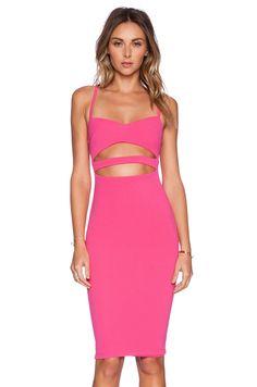 Nookie Bridget Bustier Dress in Lipstick   REVOLVE