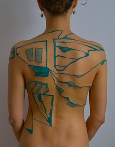 Beautiful abstract tattoo done by GRISHA MASLOV in Moscow, Russia