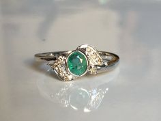 super quality natural emerald ring with by tarunenterprises