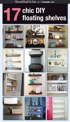 I adore floating shelves! I mean, how chic do they look?! And they're perfect for organizing tight spaces--like my teeny tiny bathroom and linen closet!