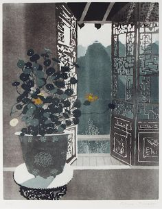 Patrick Procktor, R.A., R.W.S. (British, 1936-2003) Nasturtiums, Wusih, from the China series, Aquatint printed in colours, 1980, on wove, signed and numbered 21/75 in pencil, with full margins, 601 x 454mm (23 5/8 x 17 7/8in) (PL)(unframed)