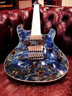 Mayones Guitars Basses has created another beautiful work of art! This Setius GTM7 Custom features an Eye Poplar Top! Do you guys like the blue stain on the Eye Popla