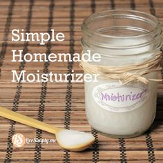 Simple Homemade Moisturizer