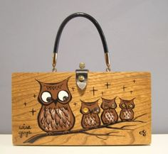 """""""wise guys"""" Enid Collins ec box bag!!  Cute, cute, cute!!"""
