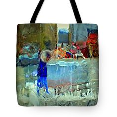 Ice Winter Market Square Pittsburgh Pa Tote Bag featuring the photograph Market Square Shoppers Photographed Through A Block Of Clear Ice.  by Len-Stanley Yesh