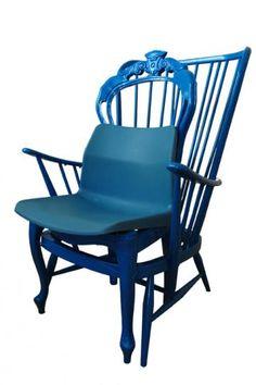 the triple blue chair, pinned by Ton van der Veer