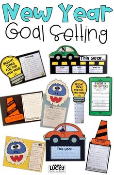 New Year Goal Setting Craftiivty! January is the perfect time to set goals for students! Check out these fun writing ideas to decorate your classroom with student goals!