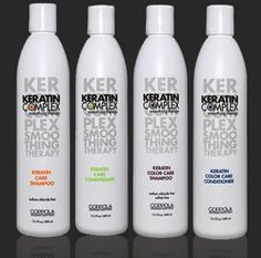 Keratin Complex Shampoo & Conditioner: Sulfate & Sodium Chloride Free, Geared towards smoothing & repairing the hair Keratin Complex, Beauty Supply Store, Keratin Hair, Sulfate Free Shampoo, Coarse Hair, Smooth Hair, Love Hair, Shampoo And Conditioner, Natural Hair Styles