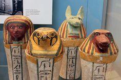 Egyptian canopic jars, British Museum