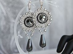 "Master Class for creating earrings ""hematite tenderness"" (Russian)"