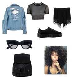 """""""Okey.."""" by alwaysseven on Polyvore featuring High Heels Suicide, Topshop, WithChic and Puma"""