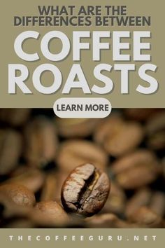 Are you familiar with the differences between a light roast and a dark roast? Every coffee roast has it's own characteristic and taste profile. Learn all about the differences today! #coffeeroasts #typesofcoffeeroasts #homebarista #coffeeroasting #roastcoffeeathome Types Of Coffee Beans, Buy Coffee Beans, Coffee Brewing Methods, Coffee Guide, Coffee Today, Coffee Facts, Best Coffee Maker, Coffee Health Benefits, Coffee Type