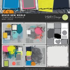 Brave New World - choose from different Options Digital Scrapbooking Freebies, Brave New World, Scrapbook Supplies, Photo Book, Templates, Artisan, Lily, Photoshop, Design