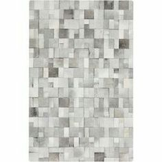 Union Rustic Harvey Hand Woven Cowhide Light Gray Area Rug Rug Size: Rectangle x White Cowhide Rug, White Rug, Thing 1, Light Crafts, Construction, Rug Shapes, Contemporary Area Rugs, Contemporary Style, Cow Hide Rug