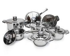 Batería de cocina profesional Bavaria 13 piezas