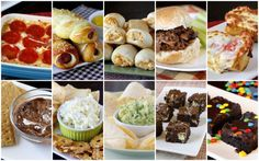 Superbowl Recipes - lots of finger food ideas