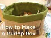 Burlap Fabric Box