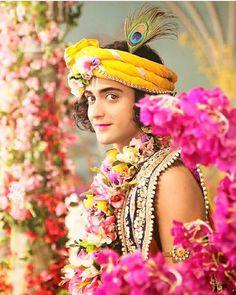 Image may contain: 1 person, flower Radha Krishna Holi, Krishna Leela, Cute Krishna, Radha Krishna Pictures, Radha Rani, Krishna Photos, Krishna Art, Radhe Krishna, Lord Krishna Wallpapers