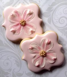 Dogwood flower on Square Plaque | Cookie Connection