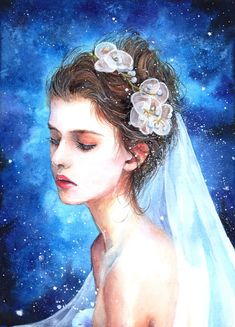 Wedding Art, Disney Characters, Fictional Characters, Disney Princess, Anime, Water Colors, Cartoon Movies, Anime Music, Fantasy Characters